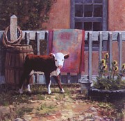 Barrel Pastels Prints - Backyard Rodeo Print by Brian Freeman