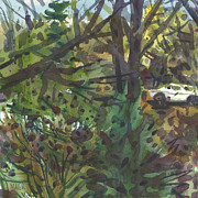 Foliage Paintings - Backyard View by Donald Maier