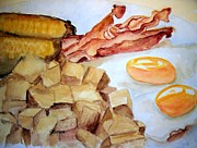 Toast Originals - Bacon and Eggs by Carol Grimes