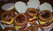 Jessica Sanders Art - Bacon Cheeseburgers by Jessica Sanders