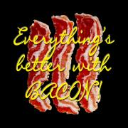 Methune Hively Digital Art Posters - Bacon Poster by Methune Hively