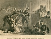 Executions Prints - Bacons Rebellion, Virginia 1677. Wife Print by Everett