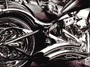 Harley Davidson Photos - Bad A Bike by Kenneth Mucke