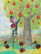 Apple Digital Art Framed Prints - Bad apples good apples Framed Print by Dennis Wunsch