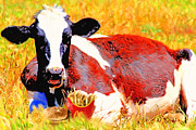 Burger Digital Art Prints - Bad Cow . 7D1279 Print by Wingsdomain Art and Photography
