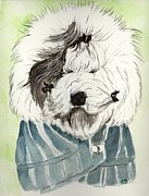 Sheepdog Paintings - Bad Hair Day by Carol Blackhurst