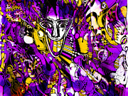 Bad Monday - Ironic Laugh -  Purple-yellow  Print by JL Eichers