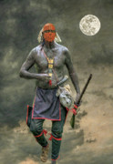 Indians Digital Art Prints - Bad Moon Rising Print by Randy Steele
