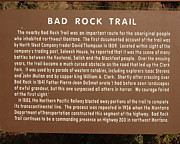 Mullen Framed Prints - Bad Rock Trail Historic Point Framed Print by Douglas Wilks