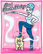 Illustrator Metal Prints - Bad Tooth Fairy Metal Print by Stu Helm