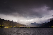 Bad Weather Prints - Bad weather over an alpine lake Print by Mats Silvan