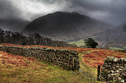Mountain Weather Framed Prints - Bad Weather Over Seatoller Framed Print by Image by Roger Fleet.