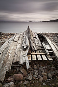 Grey Clouds Posters - Badentarbet Bay the Coigach Scotland Poster by John Potter