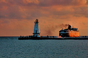 Matthew Winn Art - Badger Leaving Ludington by Matthew Winn