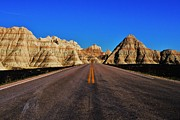 South Dakota Photos - Badlands Highway by Benjamin Yeager
