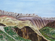 Badlands Painting Originals - Badlands II by Alan Mager