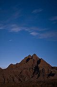Badlands National Park Posters - Badlands Night Poster by Steve Gadomski