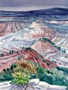 Badlands Painting Originals - Badlands of South Dakota by Donald Maier