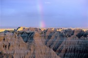 Oglala Posters - Badlands Rainbow Poster by Chris  Brewington Photography LLC
