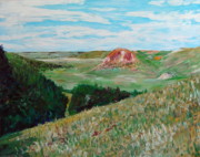 Badlands Painting Originals - Badlands South Dakota by Troy Thomas
