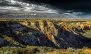 Dinosaurs Photo Posters - Badlands Poster by Wayne Sherriff