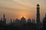 Pakistan Framed Prints - Badshahi Mosque At Sunset, Lahore, Pakistan Framed Print by Daud Farooq