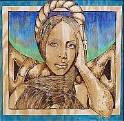 On Wood Pyrography Pyrography - Baduizm by William Burton Jr