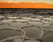 Salt Flats Posters - Badwater Sunrise-Death Valley Poster by Joe  Palermo