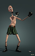 Boxing Digital Art - Baffi Storto - The Boxer by BaloOm Studios