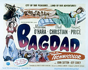 Harem Girl Posters - Bagdad, Maureen Ohara, Paul Christian Poster by Everett