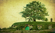 Hobbits Posters - Bagend Homes Poster by Linde Townsend