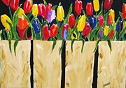 Bagged Tulips Print by Ron LaRue