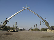 Swords Photos - Baghdad, Iraq - Hands Of Victory by Terry Moore