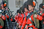 Bagpipers Prints - Bagpipers March Print by Jerry Patterson