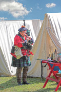 Fort Le Boeuf Posters - Bagpipes in Camp Poster by Randy Steele