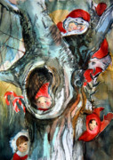 Fantasy Drawings Originals - Bah Humbug Tree by Mindy Newman