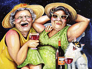 Laughing Posters - Bahama Mamas Poster by Shelly Wilkerson