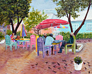 Bahamas Landscape Paintings - Bahama Market by Dorothy Riley