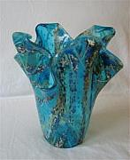 Fused Glass Jewelry - Bahama Vase by Cydney Morel-Corton