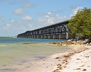 Bahia Honda Photos - Bahia Honda Bridge by Tiffney Stevens
