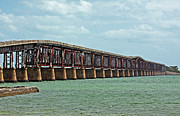 Florida Bridge Photos - Bahia Honda Bridge by Ty Helbach
