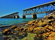 Bahia Honda Photos - Bahia Honda Rail Bridge by Benjamin Yeager