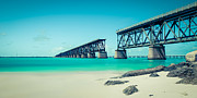 Bahia Honda Photos - Bahia Hondas Railroad Bridge  by Hannes Cmarits