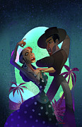 Gypsy Digital Art Originals - Baile de Amor by Nelson Dedos Garcia