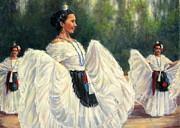 Baile De Las Velas - Candle Dance Print by Vickie Fears