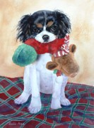Cavaliers Painting Prints - Bailee Print by Bobbi Price