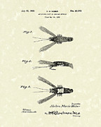 Article Posters - Bait 1932 Patent Art Poster by Prior Art Design