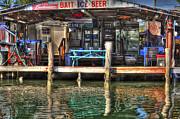 Bait Ice  Beer Shop On Bay Print by Dan Friend