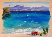 Kiteboarding Art - Baja Safari by Lynee Sapere