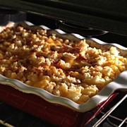 Homemade Posters - Baked Mac N Cheese. Yum. #homemade Poster by Emily W